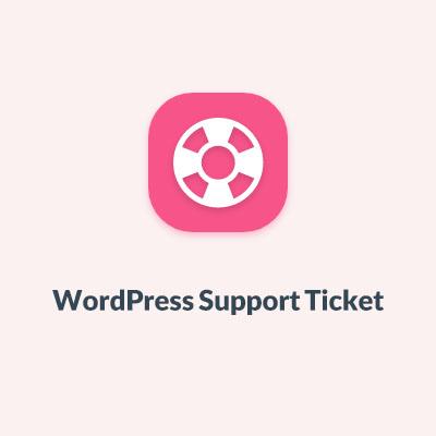 WordPress Support Tickets